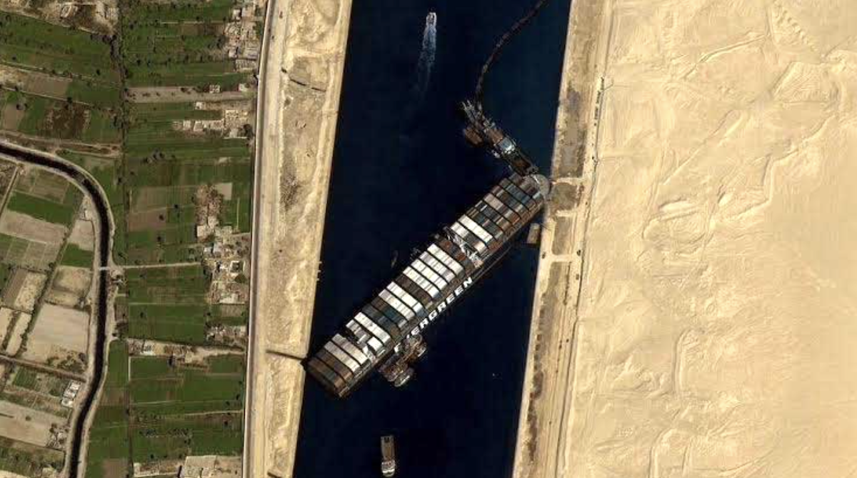 Suez canal evergreen