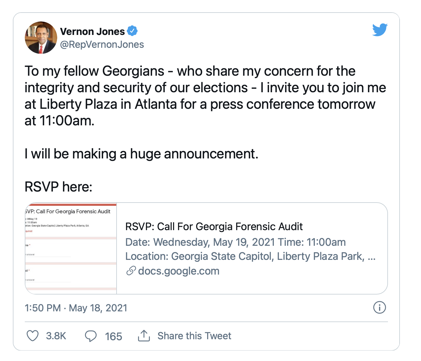 Georgia's 2020 Election Results