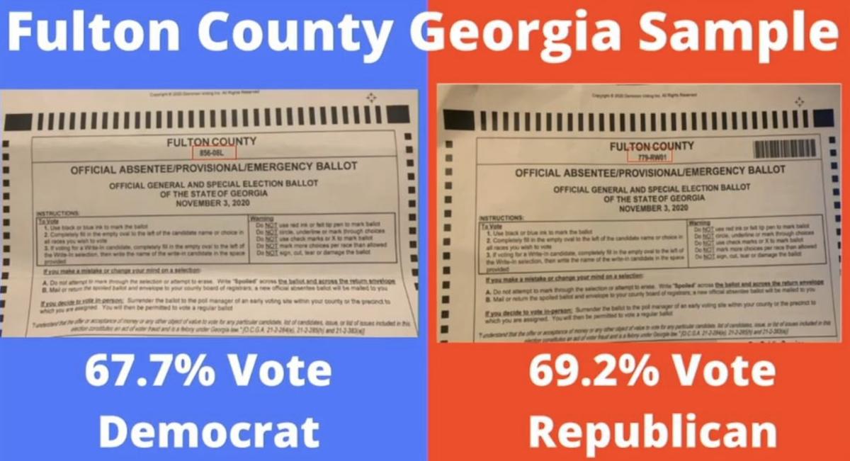 Georgia Printed Ballots